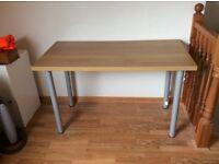 Light oak effect desk