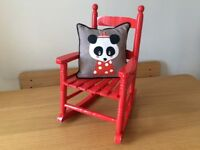 Child's Rocking-chair and cushion.