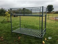 Bunk bed, steel framed with mattresses £100ono