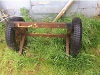 SMALL CAR TRAILER AXLE WHEELS and TYRES