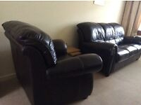 Brown leather 3 piece suite (from Sterling).