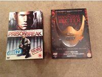 Prison break season 1 and Hannibal Lecter trilogy. DVDs.