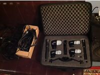 Shure Drum Microphone Kit - PGDMK6 6 mics with XLR cables