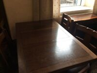 Furniture job lot, table and chairs, tables, sideboard, card table as in pictures