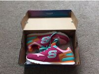 2 pairs ladies trainers. Sketchers and Puma, size 5