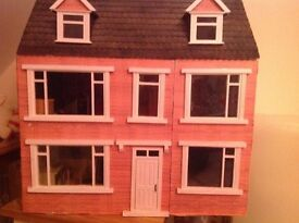Dolls house. Hand made with furniture