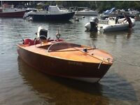 Beautiful Hand made classic day boat, 12 ft Svenson Ace with trailer and electric start outboard