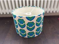 Lilly Loray blue meadow flower pendant shade RETRO