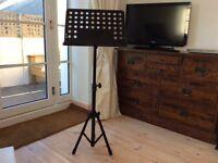 Music stand, heavy , fold up, telescopic, JSH