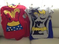 Super girl and bat girl outfits