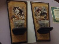 Al Agnew wolf candles set of 3