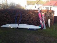 Windsurfer with 2 sails