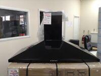 100cm black cooker hood. RRP £169 12 month Gtee