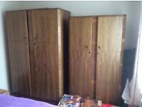 Butilux 1950s vintage Bedroom Suite, 2 wardrobes, dressing table and double bed