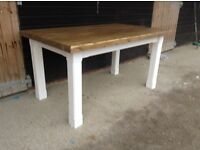 New solid pine handmade dining table 5ftx3ft bench bench's chairs chunky rustic shabby chic