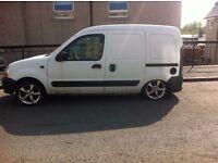 Renault Kangoo 865 1.9 Diesel Van 2002 White Spares or Repair