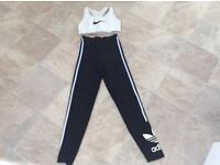 Adidas sports leggings and Nike cropped sports top. Size small.