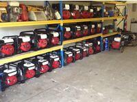 2,2, 2.7, 3.4,5.0, Kva USED Honda Generators