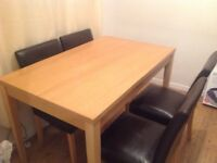 Dining table and 4 chairs£85