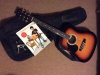Guitar-left handed acoustic