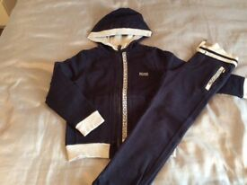 Hugo boss tracksuit age 6 navy/grey
