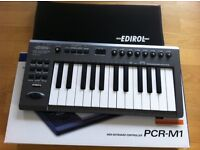Edirol Roland PCR-M1 keyboard 25 with interface and bag