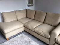 Barlow modern left hand corner unit and footstool by Laura Ashley
