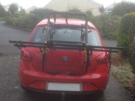 Used high level 2 bike rack for hatch back/estate