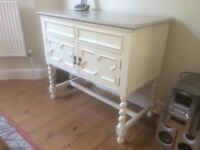 Sideboard. Soft white and grey