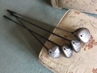 Ladies Callaway golf woods. Driver, 3, 5 and 7 woods