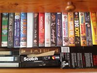 A selection of vhs video tapes