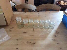 Glass storage jars