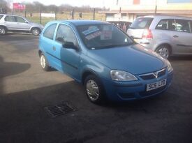 Vauxhall CORSA 1.2 2004 only 96000 miles PSH blue metallic MOT ONE YEAR ideal first car