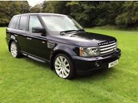 2007 RANGE ROVER SPORT HSE 2.7 TDV6 AUTO STUNNING CONDITION ONE LADY OWNER FLRSH