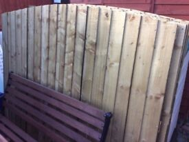 6 X 5 FT ARCHED STRONG TANALISED GARDEN FENCE PANELS