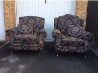 Pair of Ladies and Gentlemans Armchairs by Kirkdale