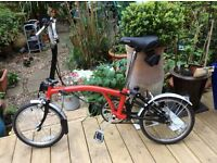 Brompton Folding Bike With Accessories In Excellent Condition.