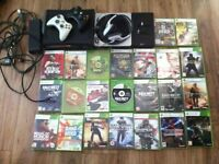 Xbox 360 2 pads and 23 games