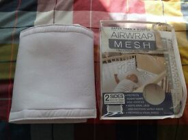 Airmesh cot bumpers, white, excellent condition