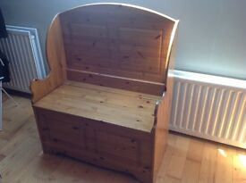Solid Pine Monks Bench