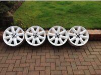 Mini alloy wheels white