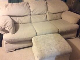 Cream DFS sofa - VERY comfortable