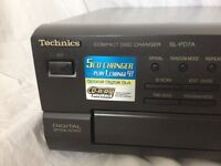 Technics CD player, 5 disc, perfect working order, model SL-PD7A