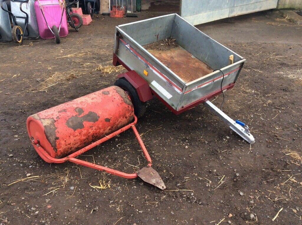 Farm quad trailer and roller