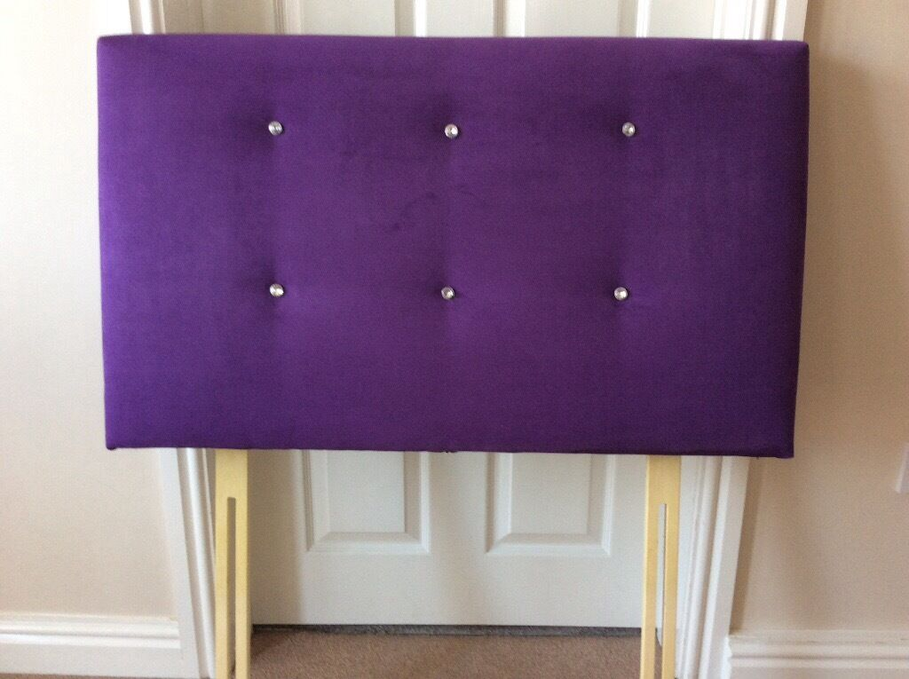 Luxury single headboard purple with decorative gemsin Plymouth, DevonGumtree - Luxury single headboard. Purple suede effect with decorative gems. Excellent condition. Barely used Comes from smoke and pet free home. Collect from Elburton