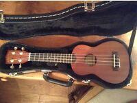 Makala soprano ukulele (new) with hard case