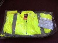 Hi viz Trojan bomber jacket
