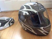 BOX motorcycle helmet unused/ff368/uk large / nice design/bag protector included