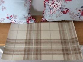 Contemporary Tartan Check Plaid Neutral Brown Beige Grey Wallpaper