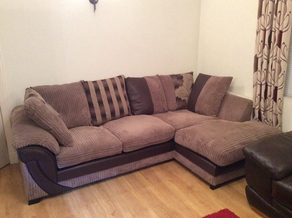 Corner Sofa Large Deep Comfortable One Year Old Splits Into Two For